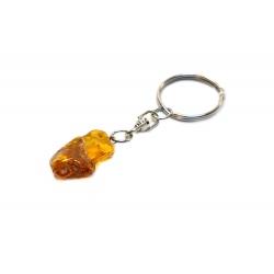 Porte clé en ambre miel