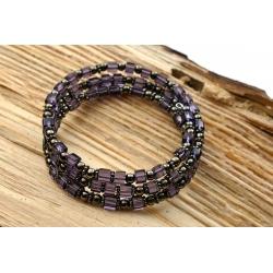 Bracelet en verre Violet Foncé