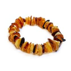 Bracelet Ambre poli multicolore pour Adultes