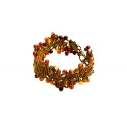 """Bracelet macramé """"le Ruisseau d'Automne"""""""