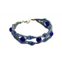 """Bracelet macramé """"Oeil bleu"""""""
