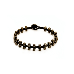 """Bracelet macramé """"Métal"""""""