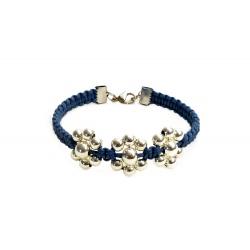 """Bracelet macramé """"Fleurs en métal"""""""