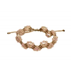 """Bracelet macramé """"Rose & Gris"""""""