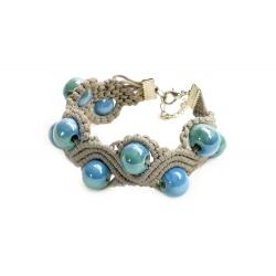 Bracelet en macramé Bleu&Vert