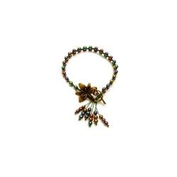 Bracelet macramé hématite multicolor
