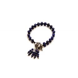 Bracelet en macramé avec lapis lazuli