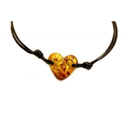 Bracelet Ambre en forme de coeur