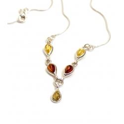 Collier ambre et argent 925/1000