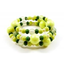 Bracelet en verre Vert Joyeux