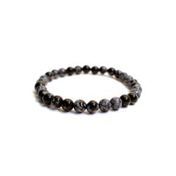 Bracelet en Obsidienne Neige