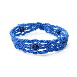 Bracelet en macramé Bleu et Noir