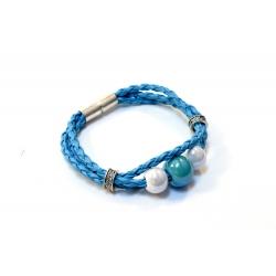Bracelet en Céramique Bleu Délikat