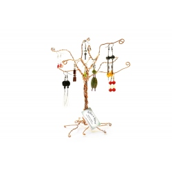 Arbre à  bijoux automne argenté rouge doré
