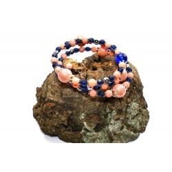 Bracelet Pastel d'Abricot et Centaurée