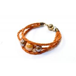 Bracelet en Céramique Orange Marron