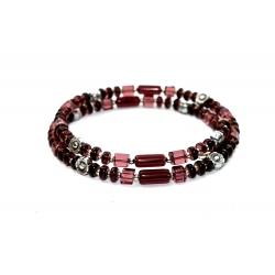 Bracelet en Verre Prune